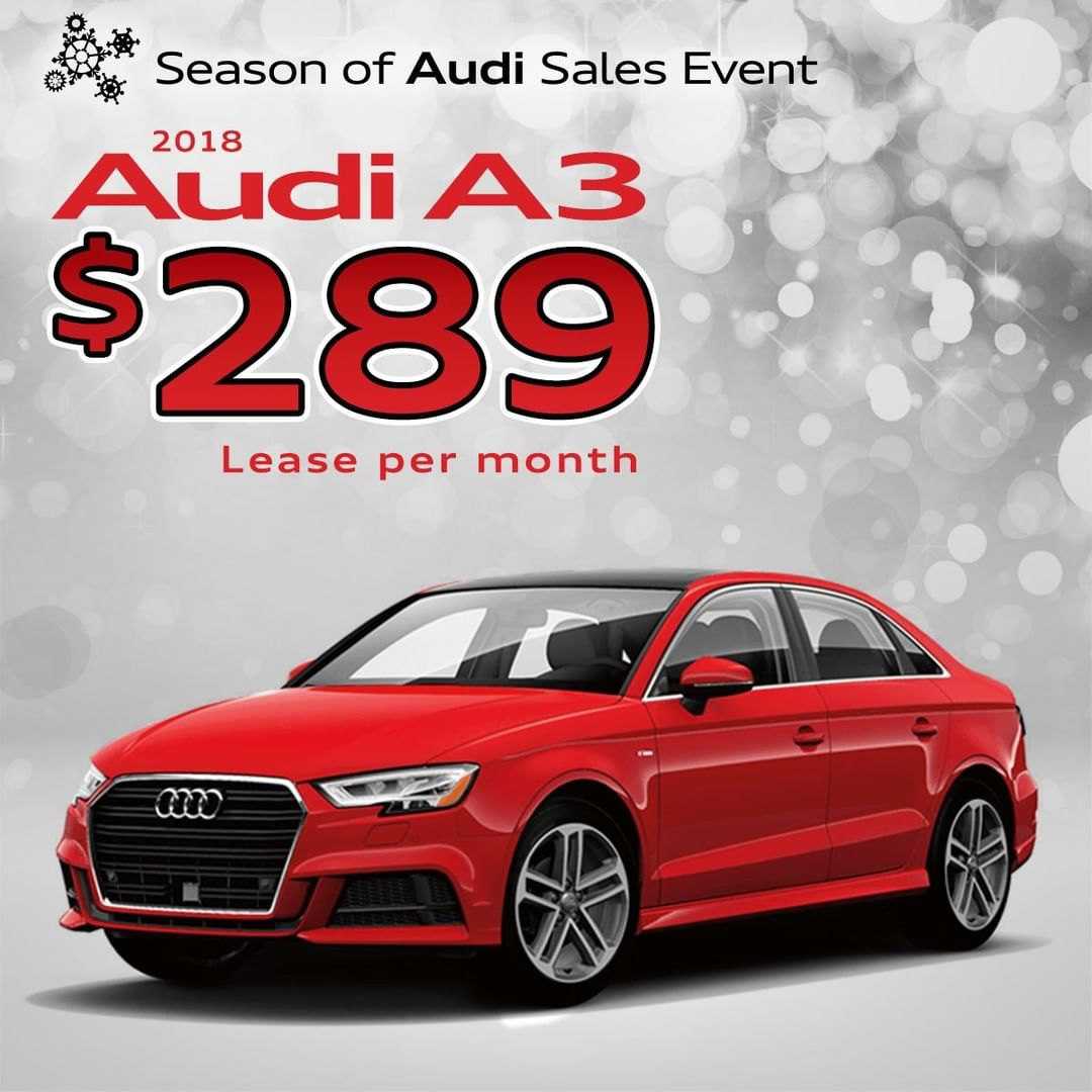 2018 Audi A3 Lease: Just $289 / Month