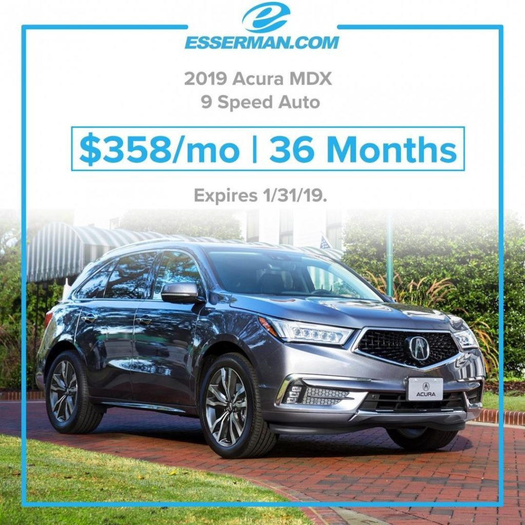 Acura MDX Just $358 Per Month