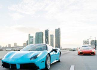 Miami Car Porn Featuring Ferraris Driving to Miami Beach