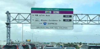 Palmetto Traffic Northbound in Hialeah
