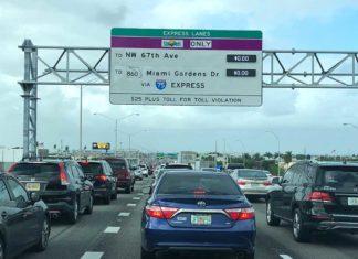 Palmetto Traffic Northbound in Hialeah